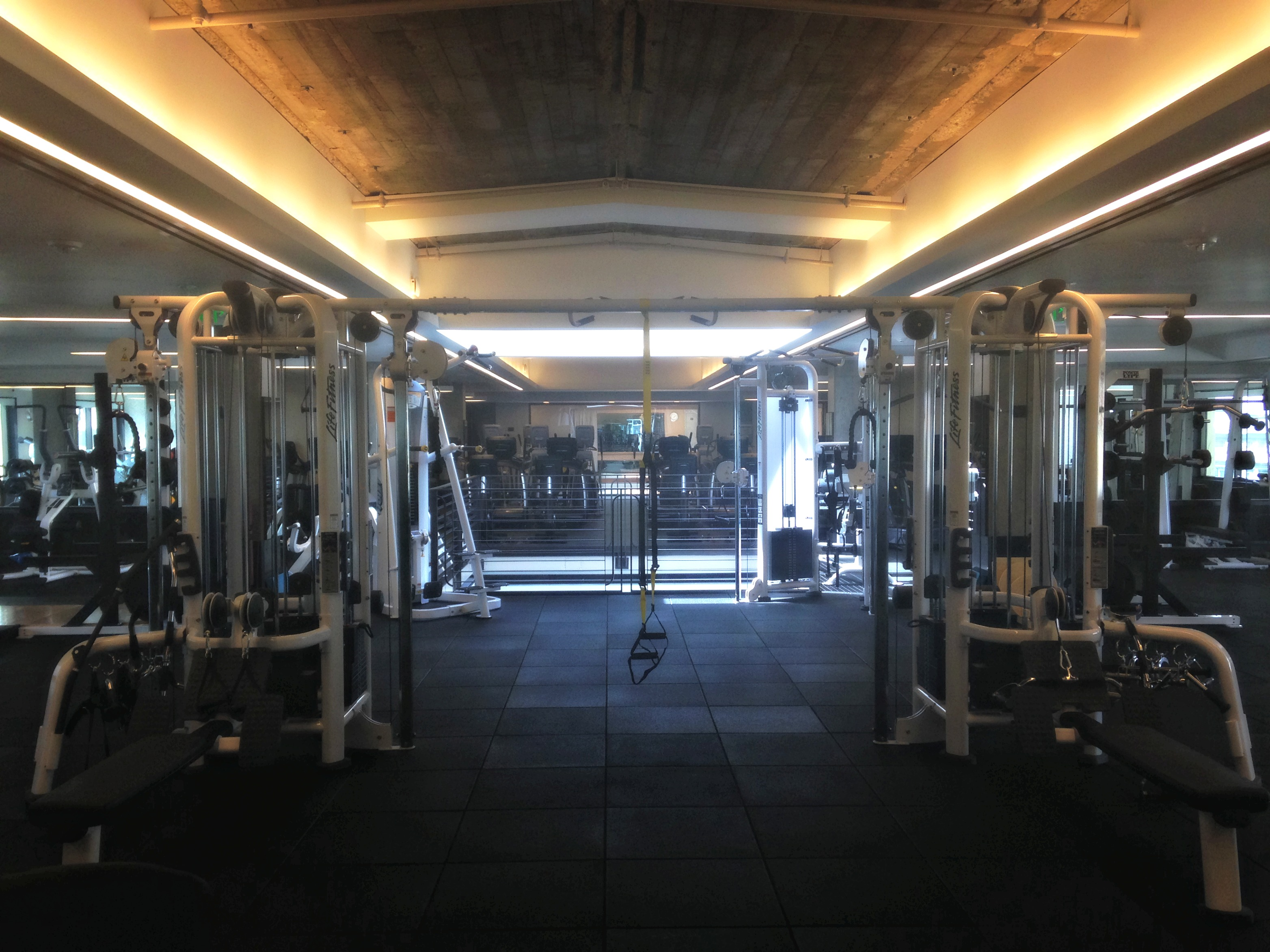 Equinox weight room