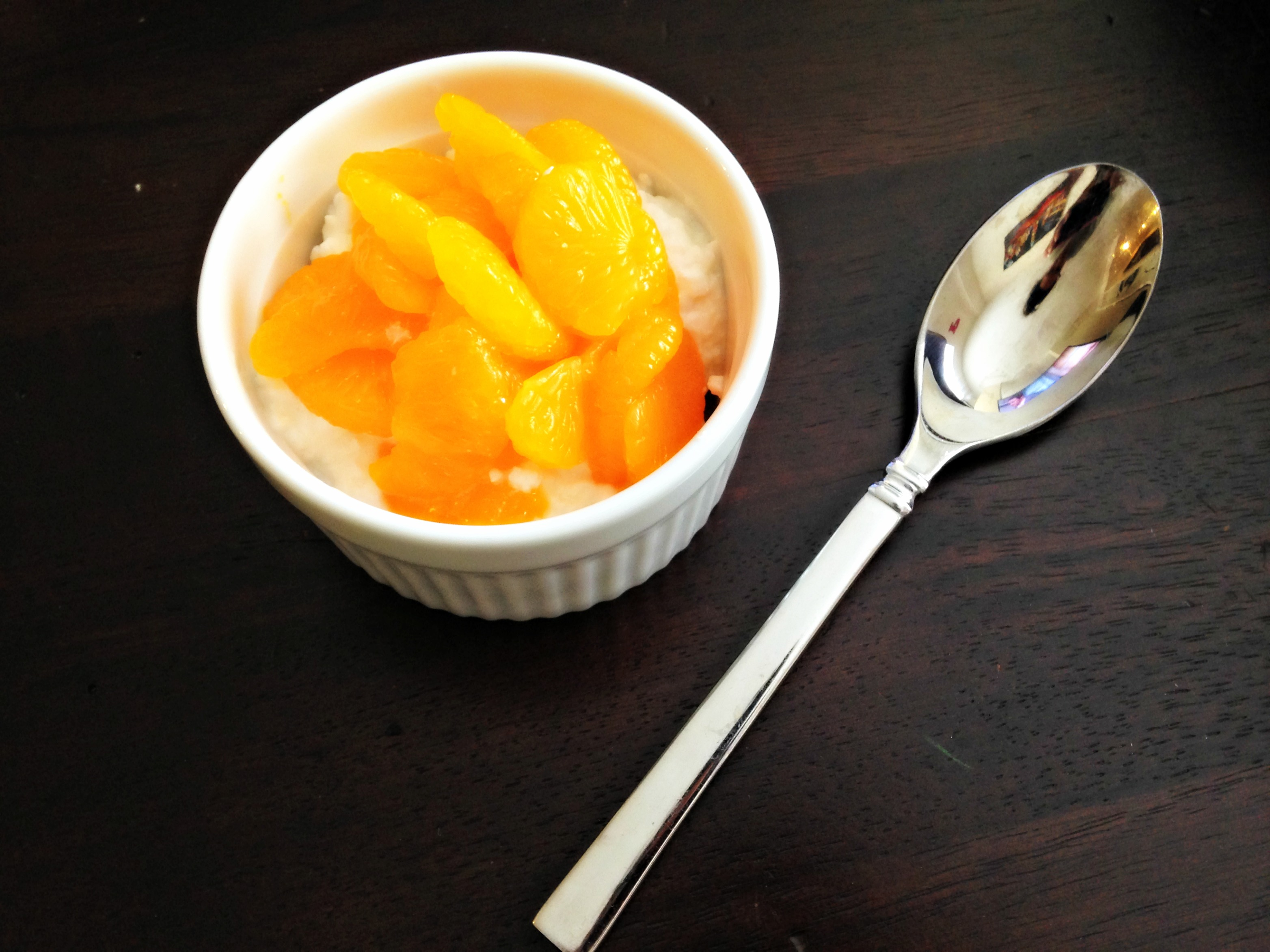 Cottage cheese and oranges
