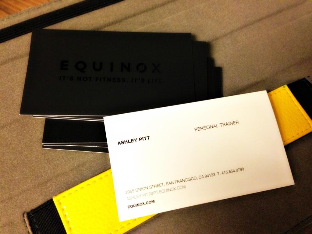 Equinox business cards