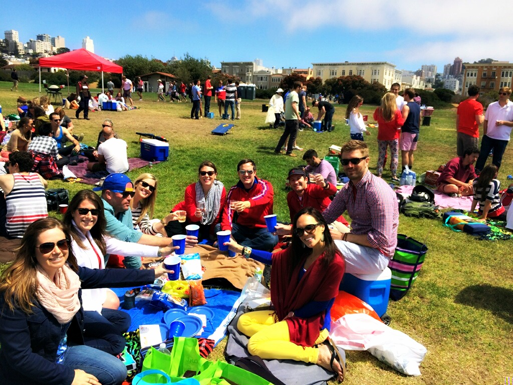 Fourth of July picnic at Fort Mason