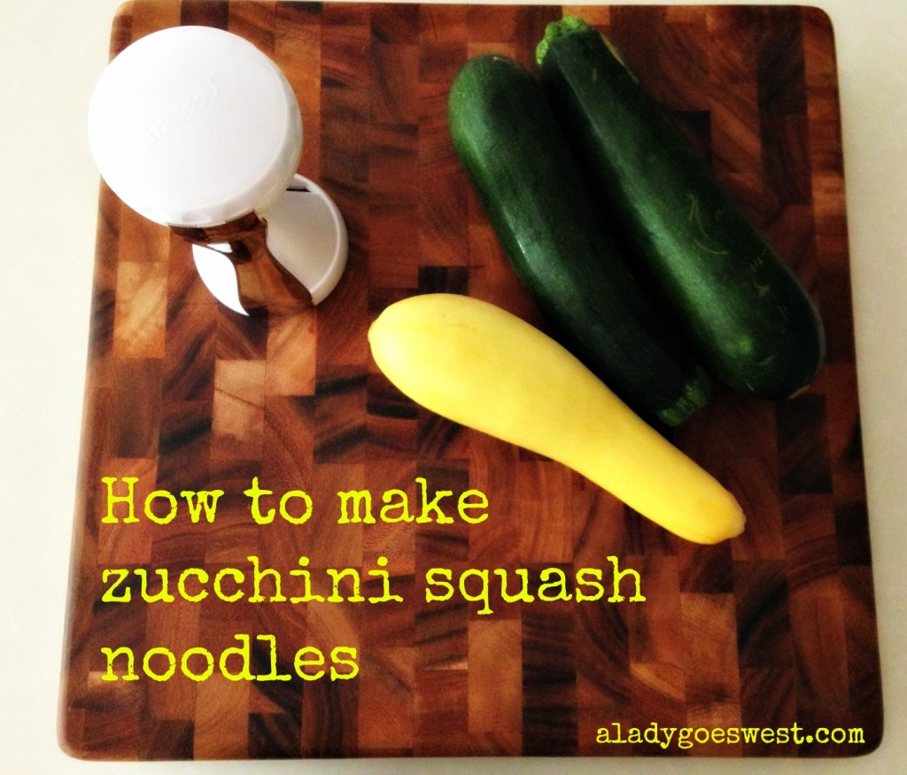 How to make zucchini squash noodles - A Lady Goes West