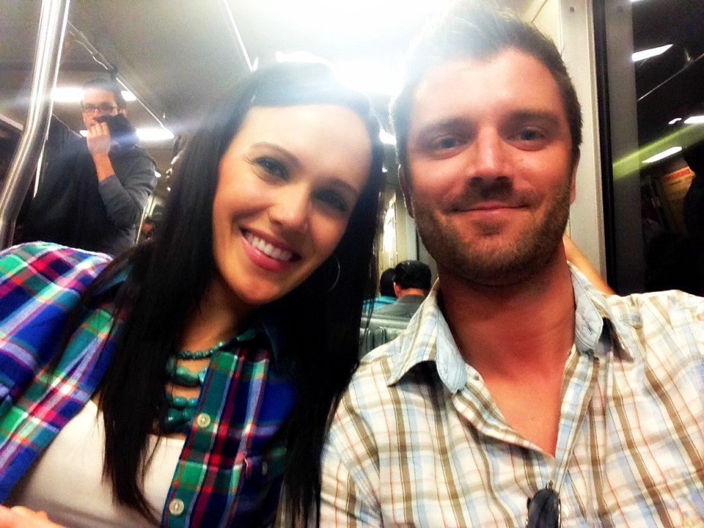 Ashley and Dave on BART