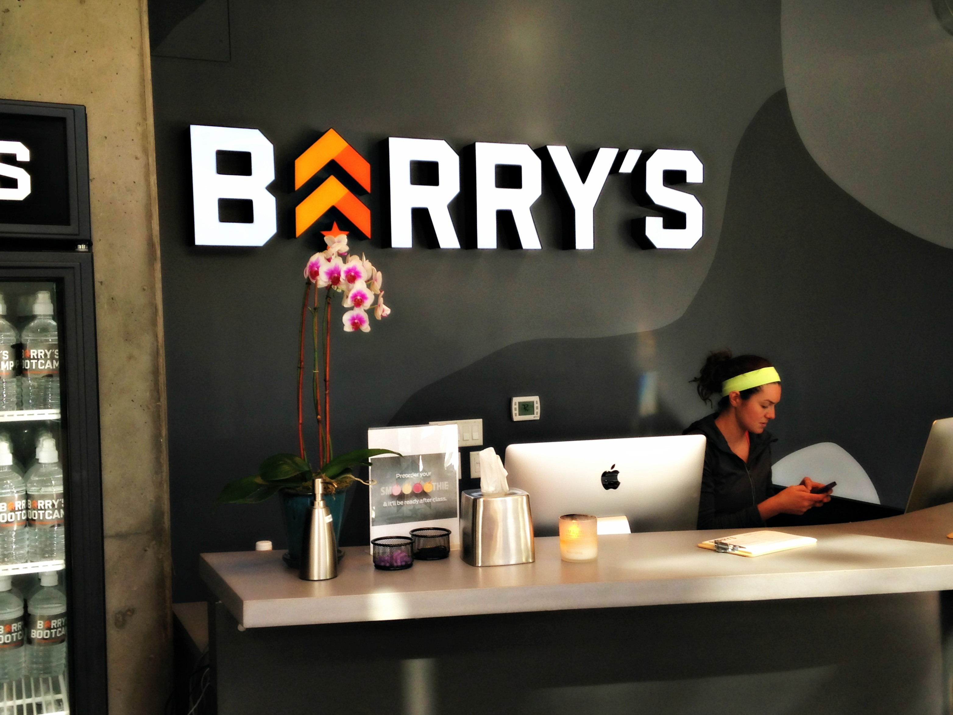 Barry's front desk