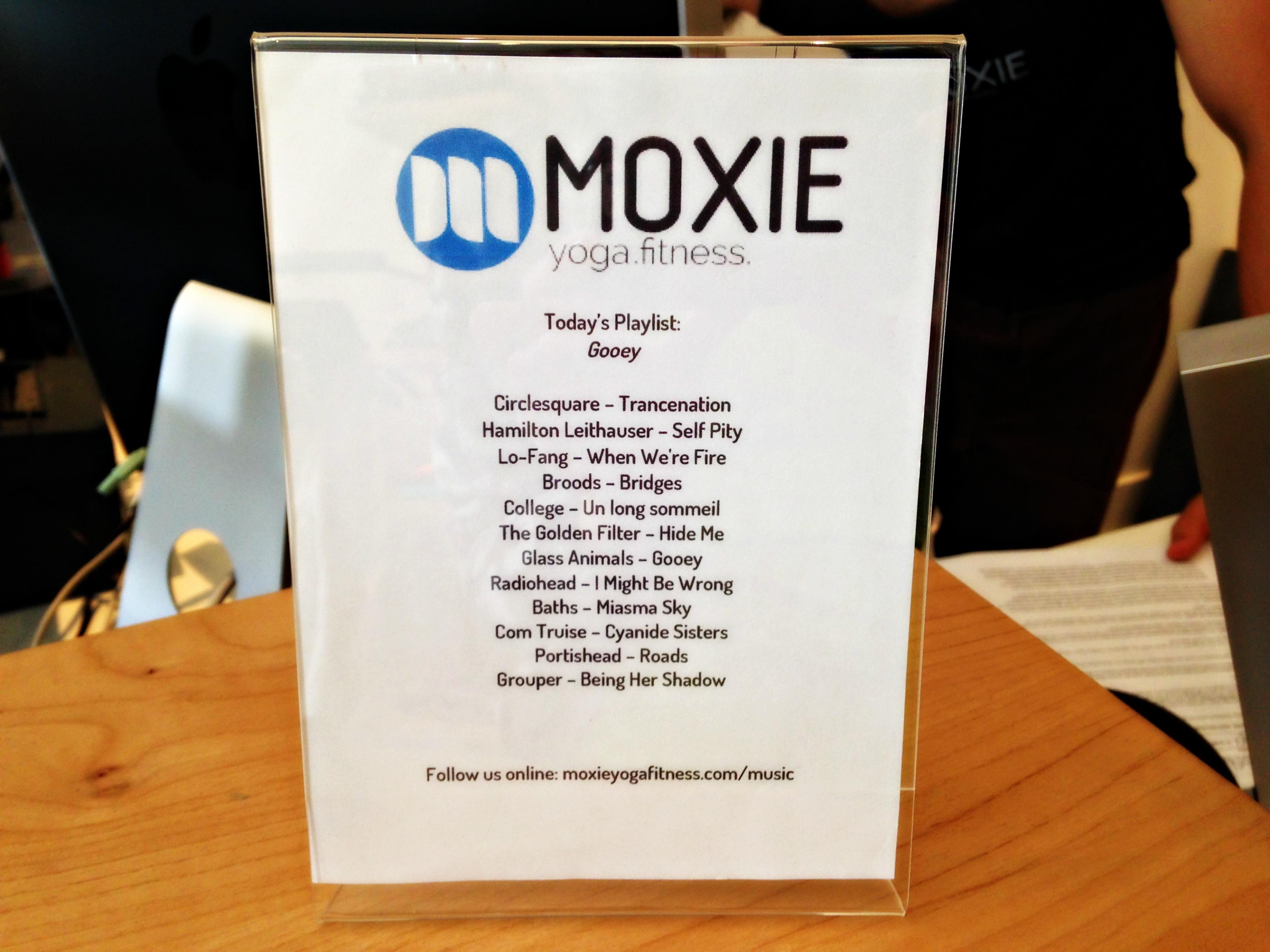 Moxie playlist
