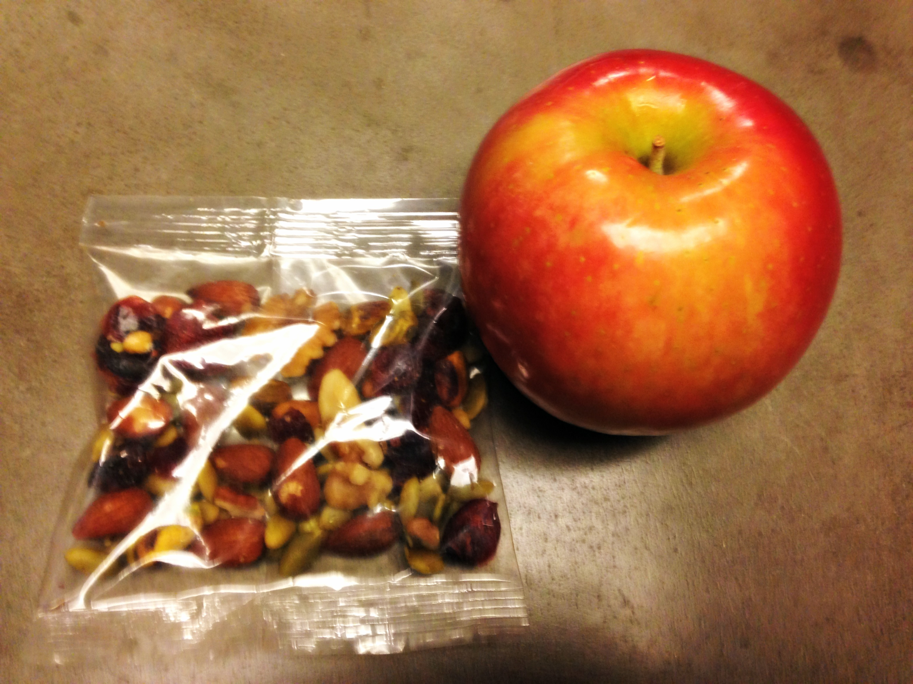 Afternoon apple and trail mix