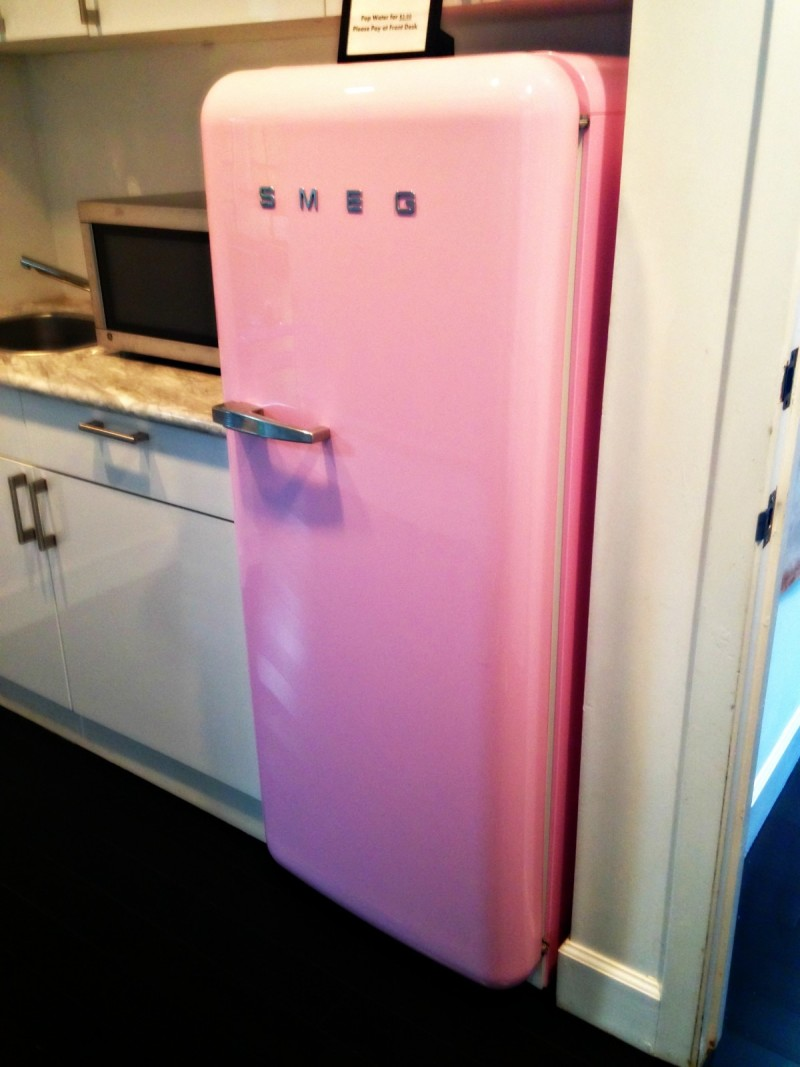 Pop Physique pink fridge