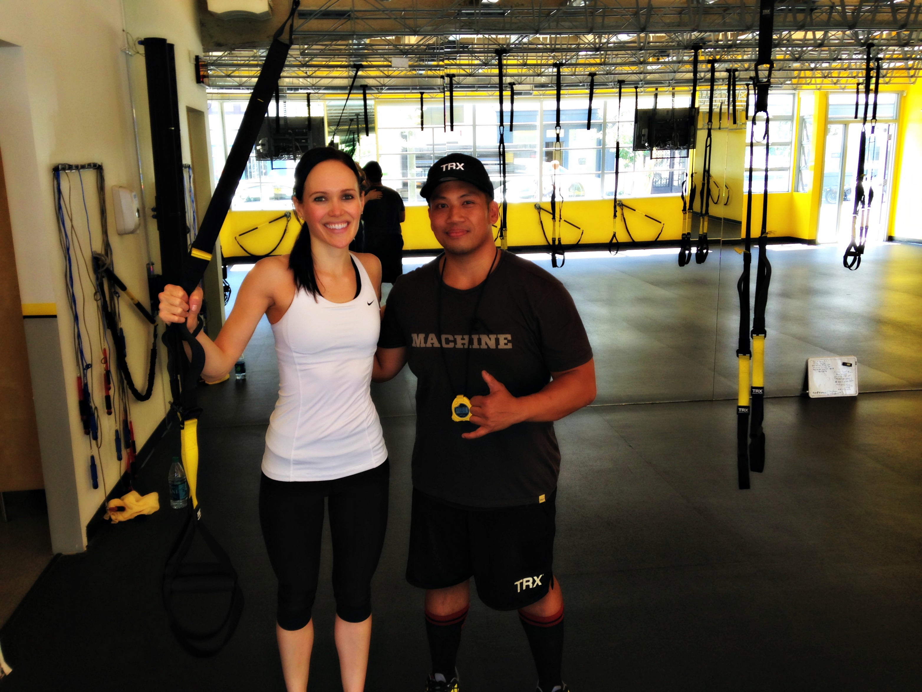 TRX Ashley and Medwin the trainer
