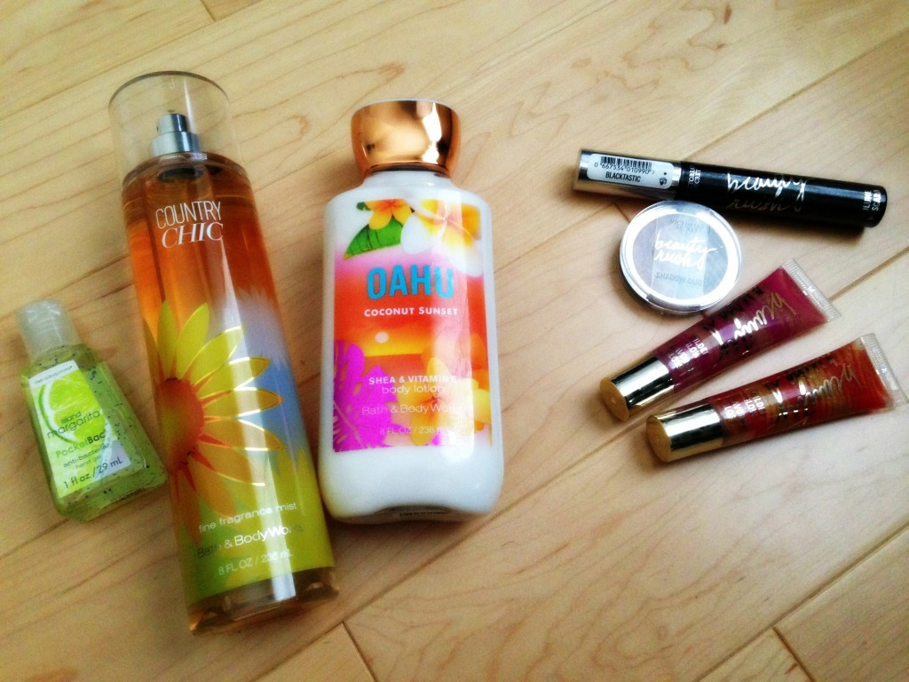 Glam finds Bath and Body and Victorias Secret