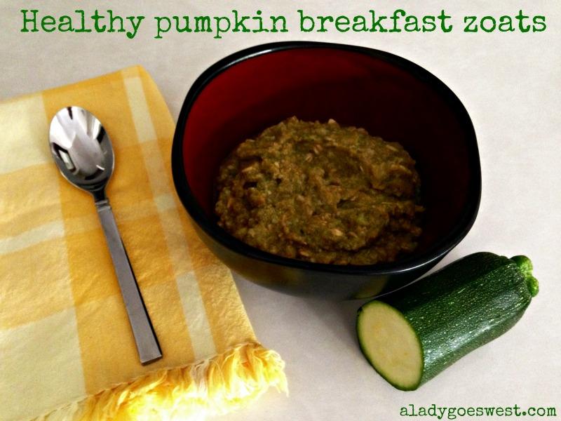 Healthy pumpkin breakfast zoats via A Lady Goes West