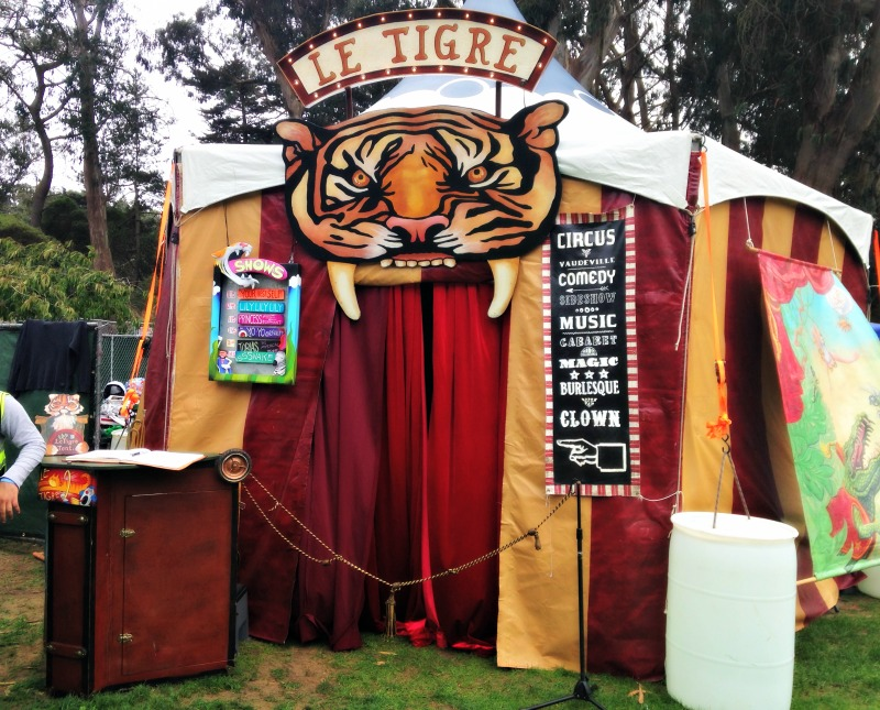 Le Tigre tent at Tour de Fat