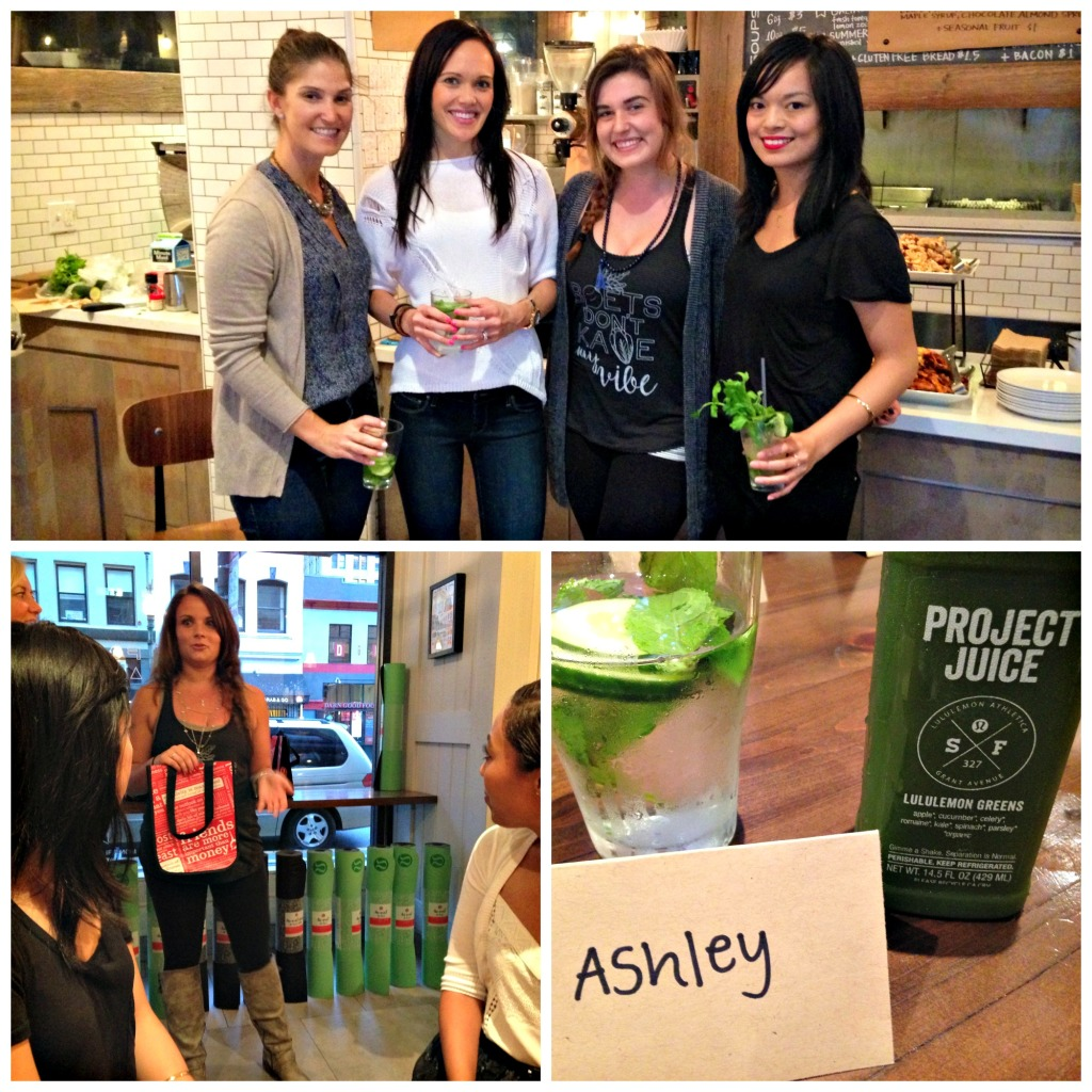 Lululemon and Project Juice Blogger event