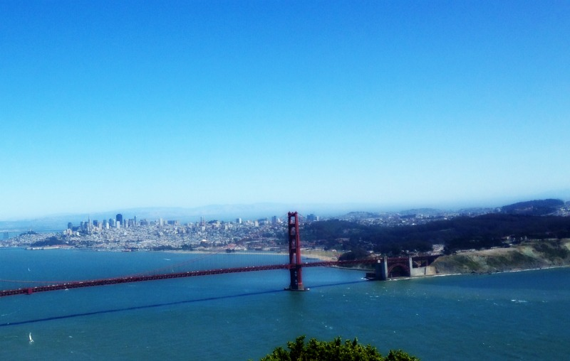 Marin headlands view of city