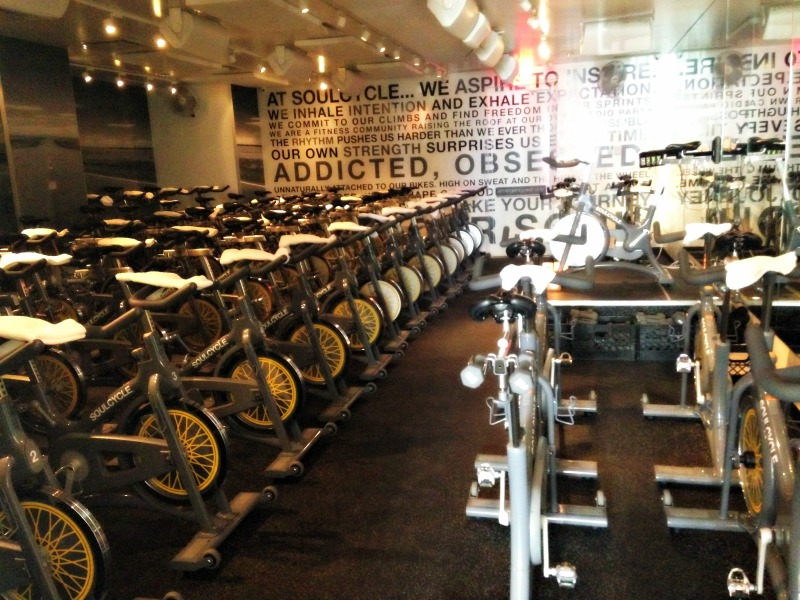 SoulCycle studio interior