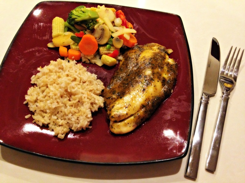 Tilapia, veggies and rice