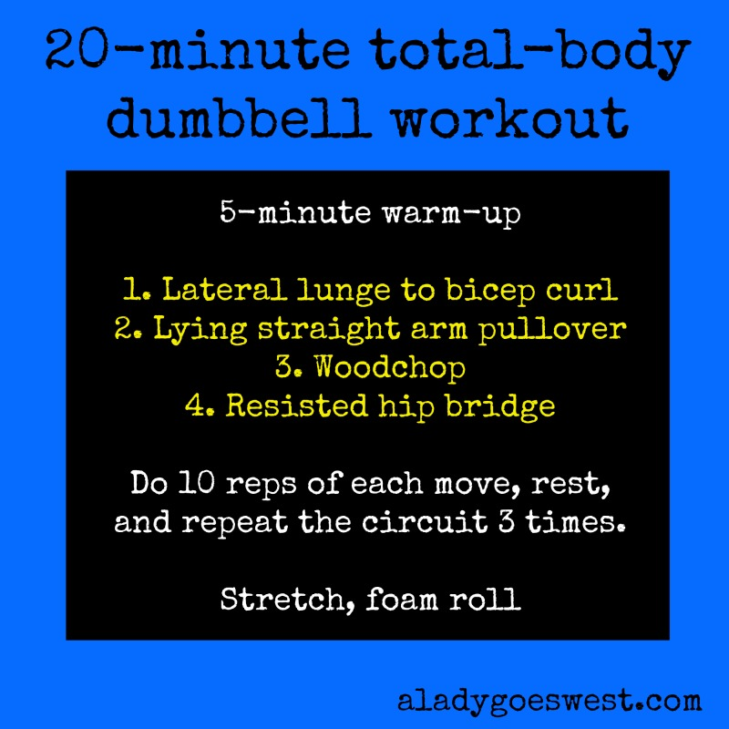 20 Minute Total Body Dumbbell Workout Via A Lady Goes West