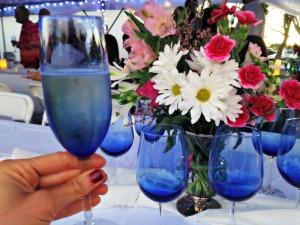 Melissa's engagement party - centerpieces