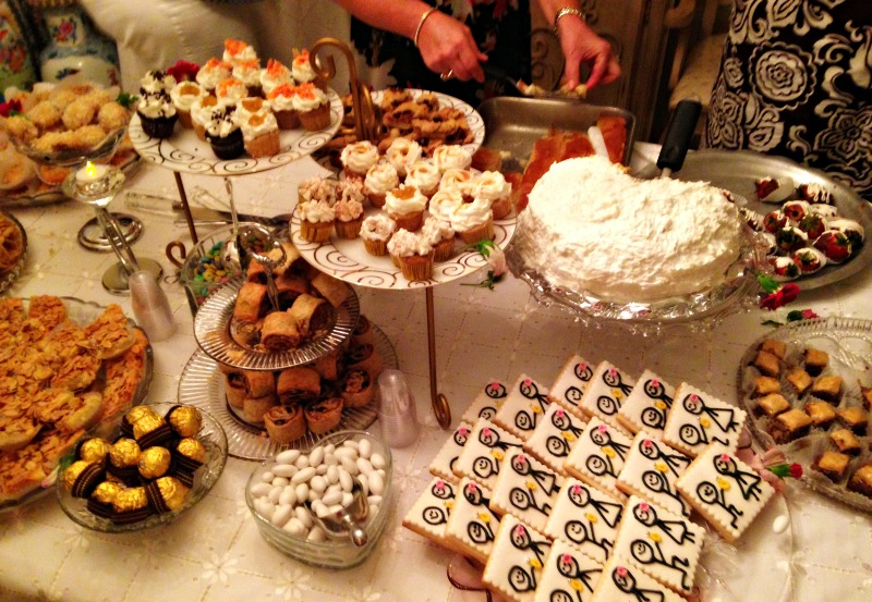 Melissa's engagement party dessert table