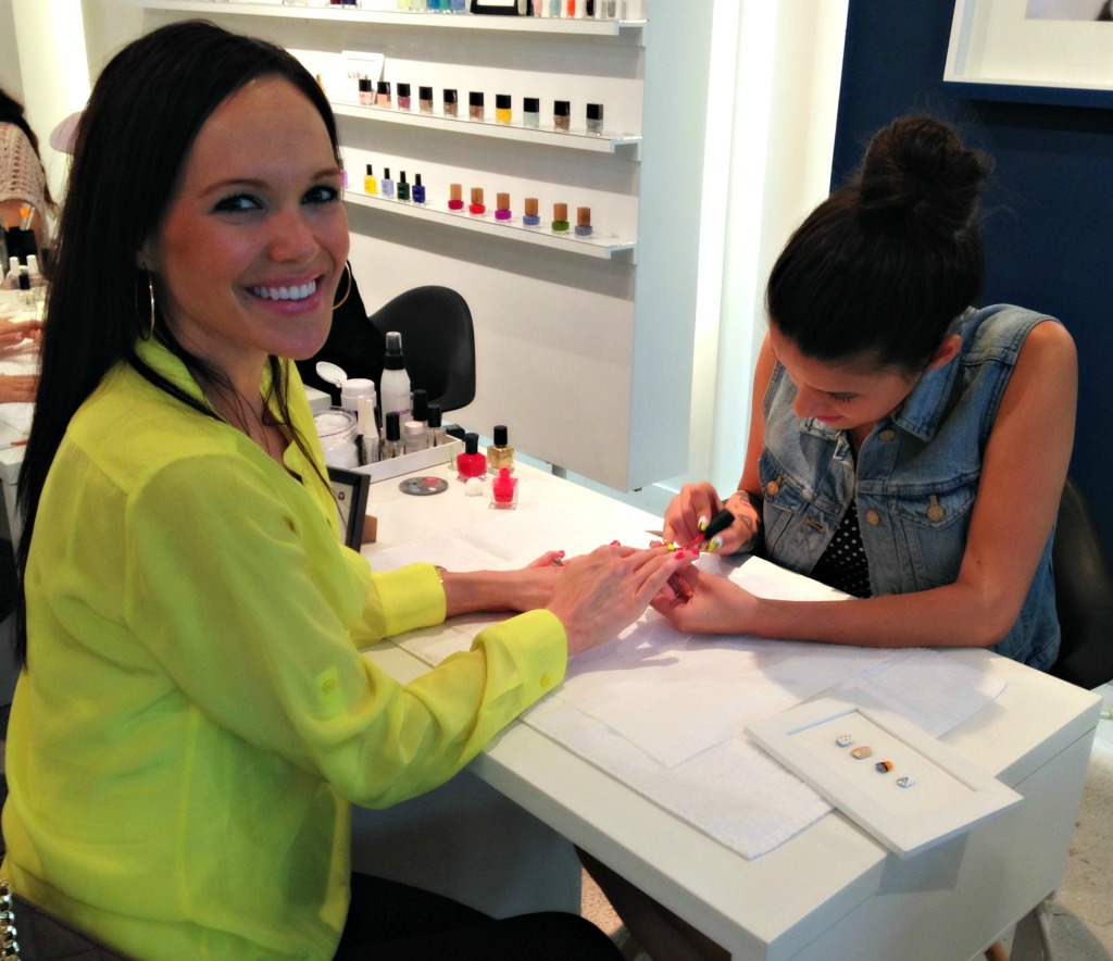 POPSUGAR event getting nails done
