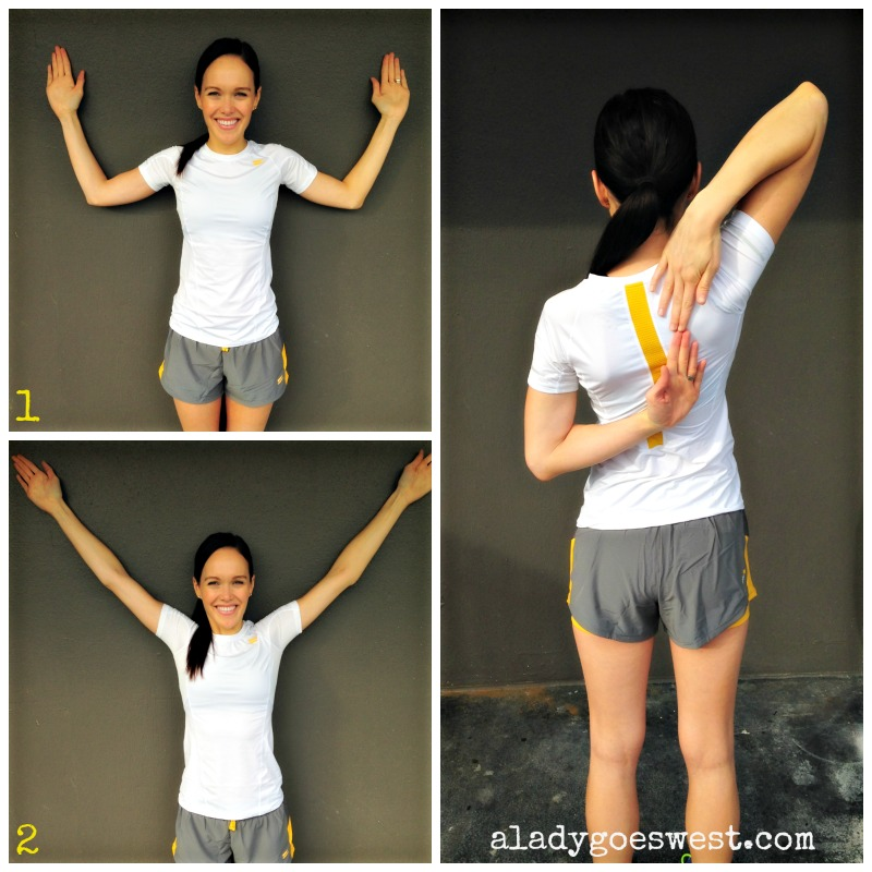 Shoulder mobility exercise WY on the wall via A Lady Goes West