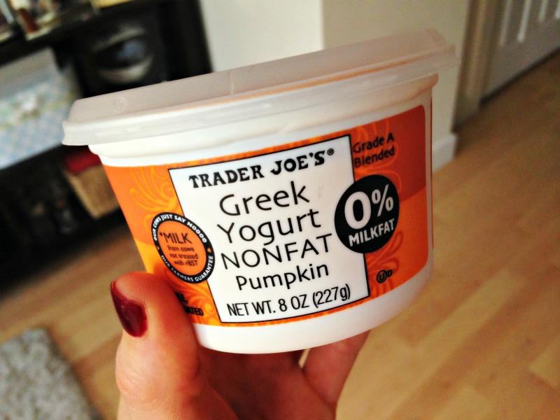 Trader Joe's Greek pumpkin yogurt