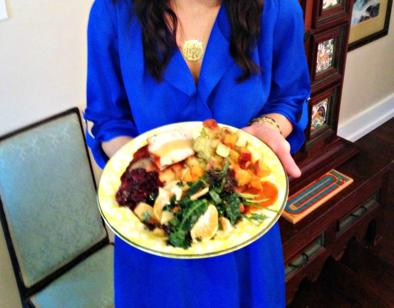 Ashley at Thanksgiving plate