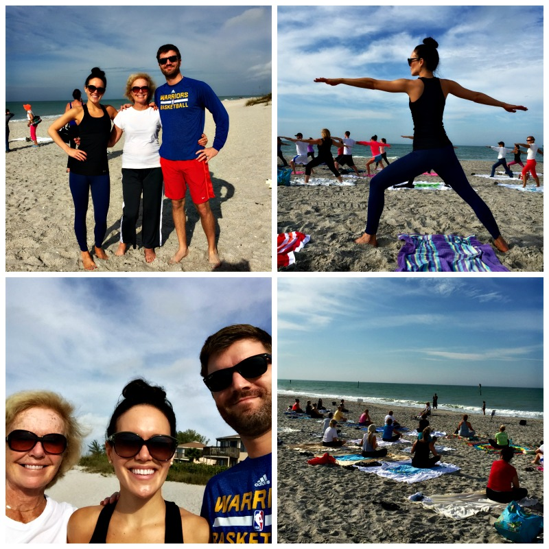 Yoga at Englewood Beach