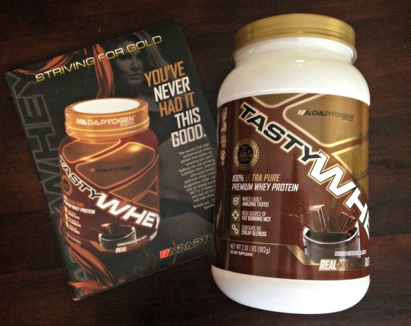 Adaptogen Science chocolate TastyWHEY via A Lady Goes West