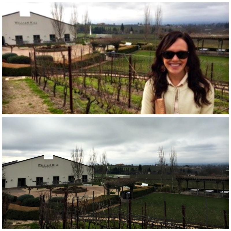 Ashley in front of William Hill Estate Winery