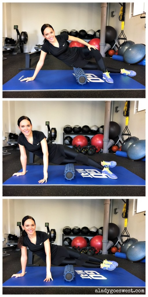 Foam rolling 101 - IT bands via A Lady Goes West