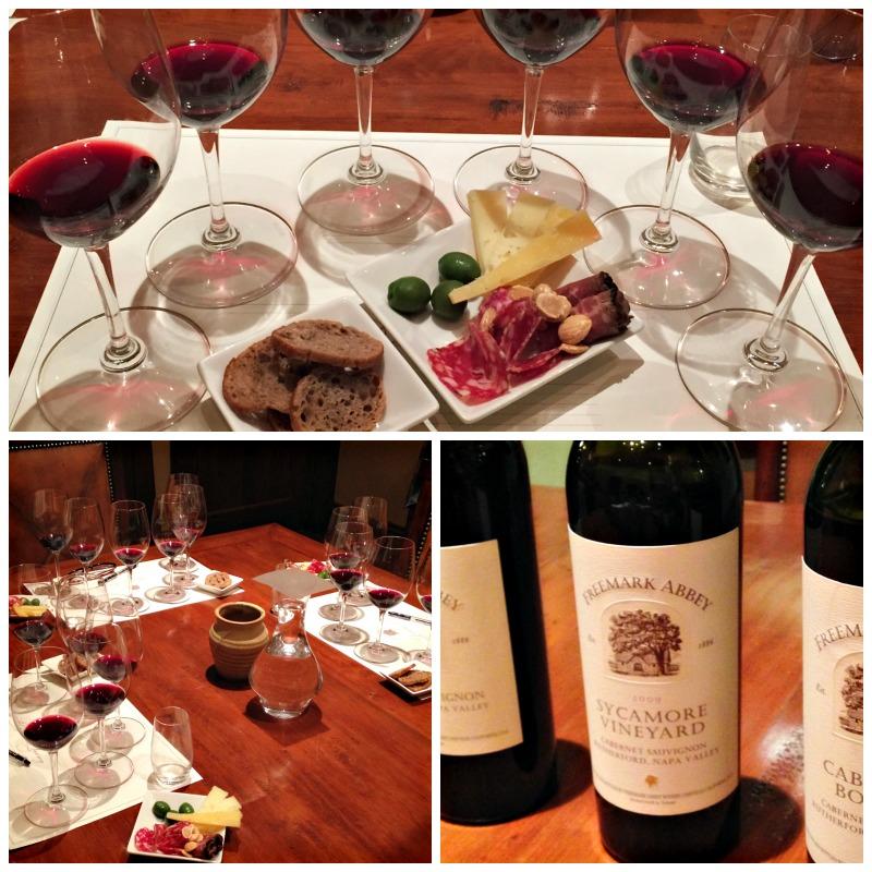 Freemark Abbey wine tasting