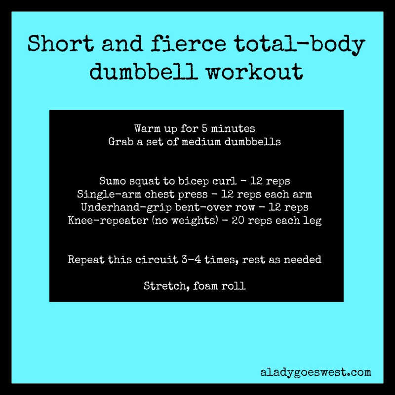 Short and fierce dumbbell workout via A Lady Goes West