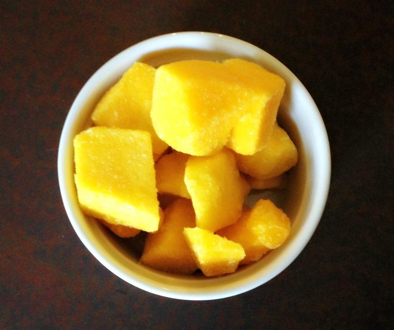 Frozen mangoes