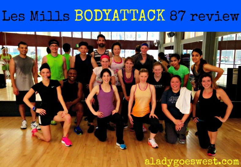 Les Mills BODYATTACK 87 class review via A Lady Goes West