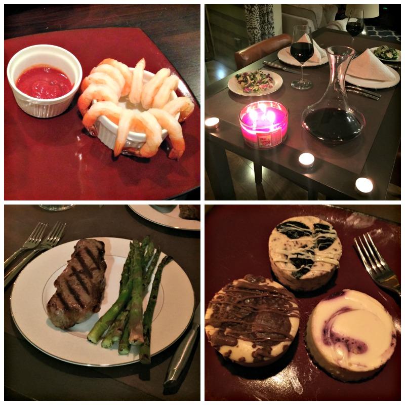 Steak dinner for Valentine's Day