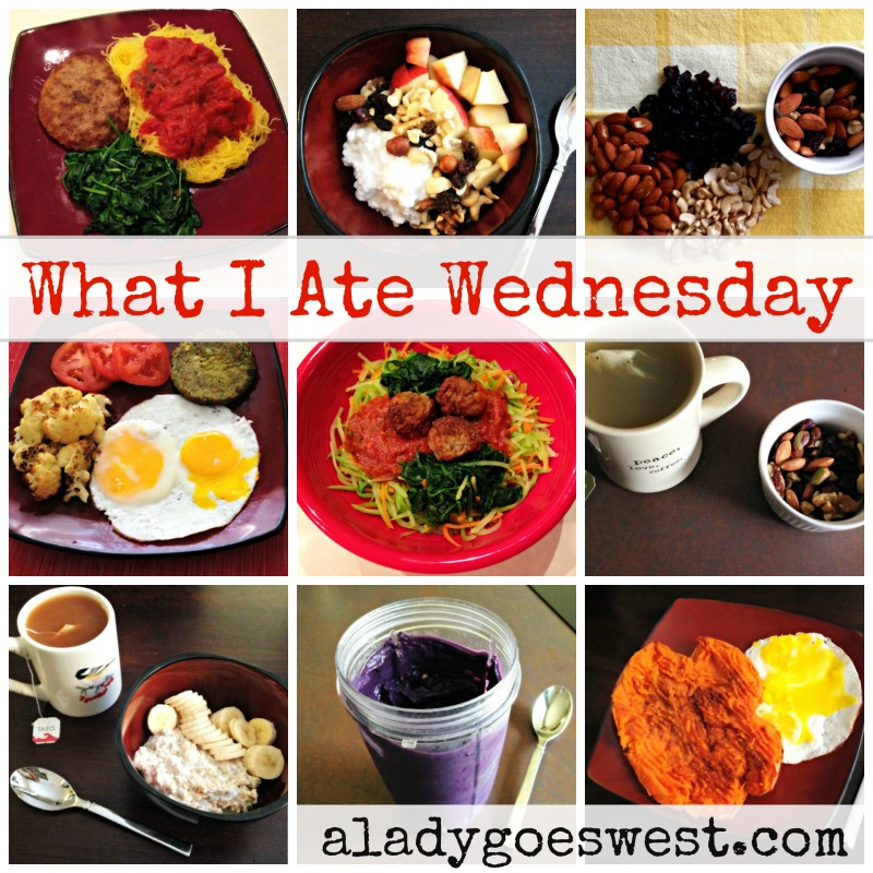What I Ate Wednesday via A Lady Goes West
