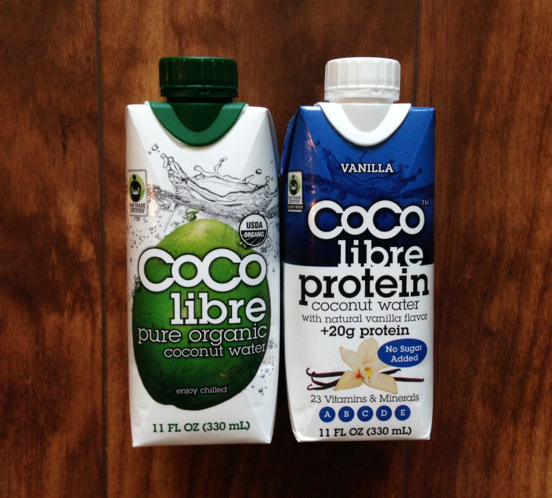 Coconut water and protein shake