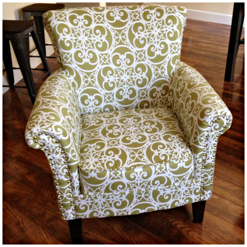 Decorative living room chair via A Lady Goes West