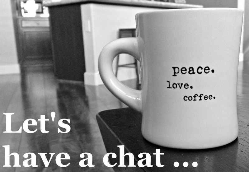 Just you and me: Let's have a chat over coffee