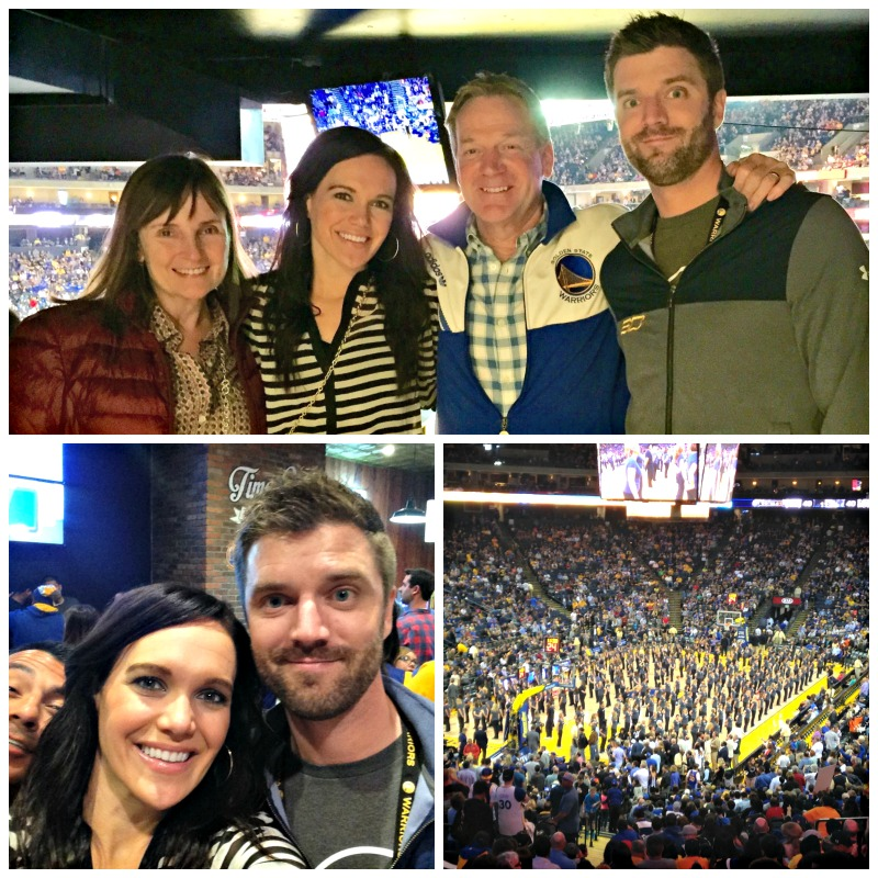 Warriors game with the Pitts