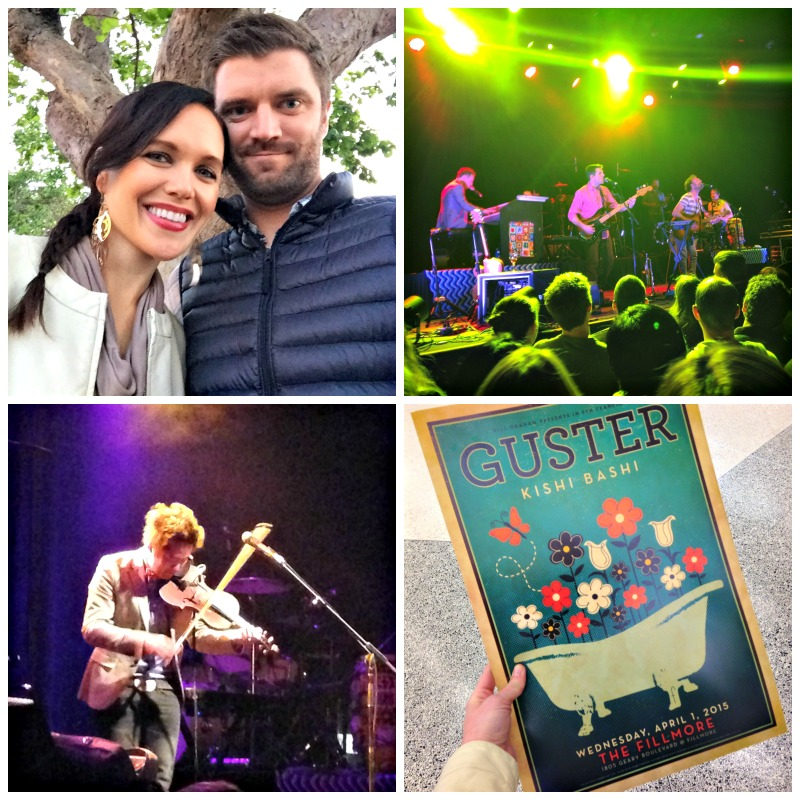 Guster concert at The Fillmore via A Lady Goes West