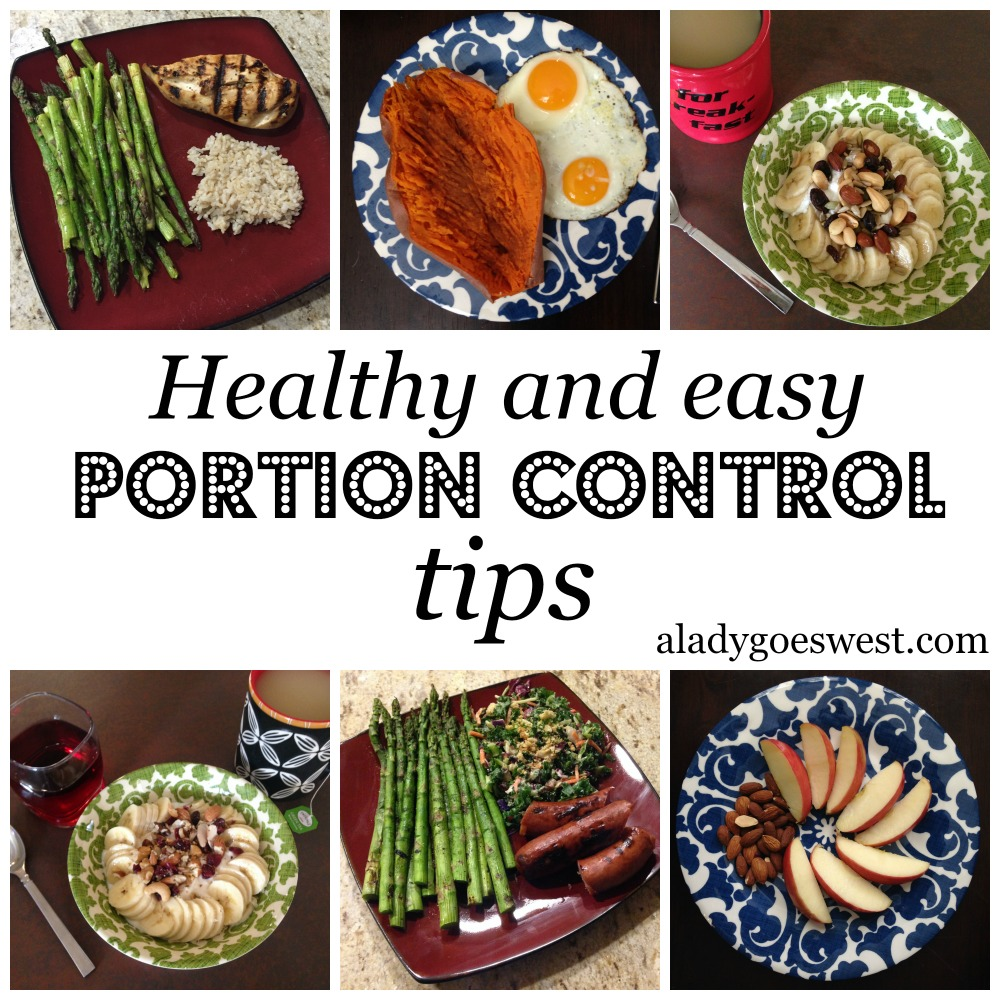 Healthy and easy portion control tips via A Lady Goes West