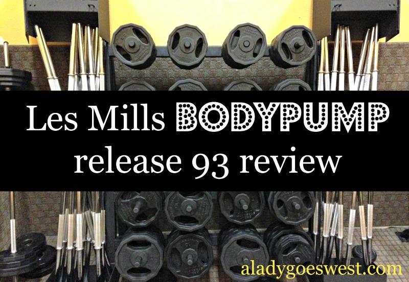 Les Mills BODYPUMP 93 review via A Lady Goes West
