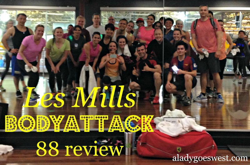 Les Mills BODYATTACK 88 review via A Lady Goes West