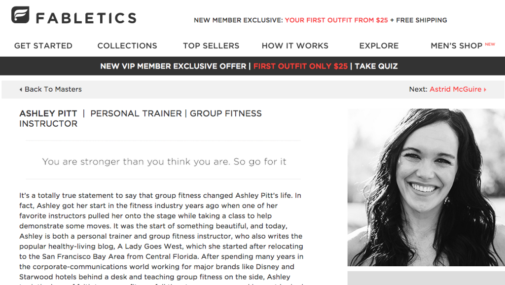Ashley Pitt Fabletics Master