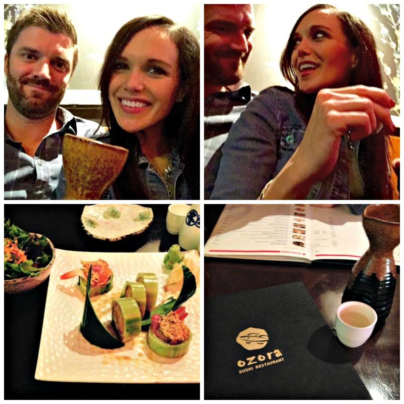 Sushi dinner at Ozora