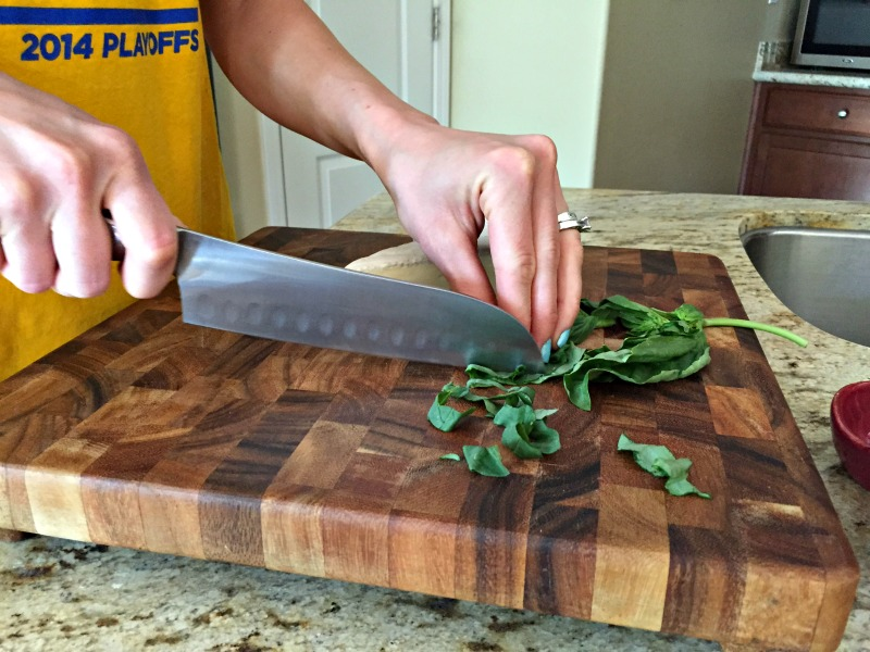 Chopping in the kitchen