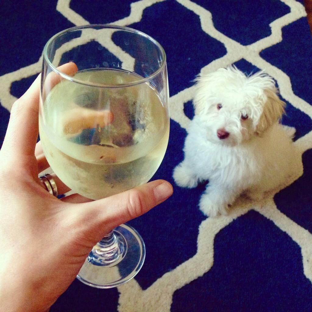 Rudy and wine