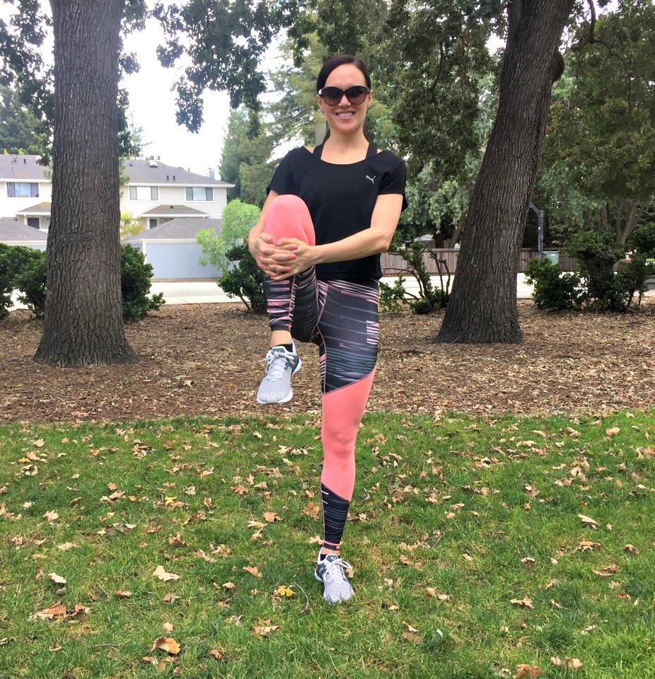 Knee grab dynamic warm-up via A Lady Goes West