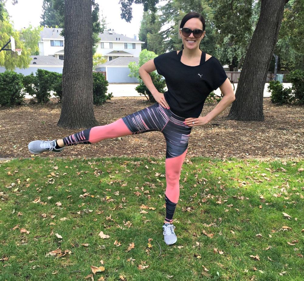 Leg swings dynamic warm-up via A Lady Goes West