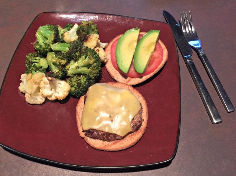 Turkey burger dinner 6.22